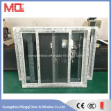 Окно PVC Slidng Tempered стекла с сетью