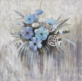 Peinture à l'huile fabriquée à la main de vente chaude avec le beau type de fleur