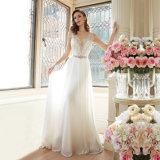 Элегантная линия в горловину сарафан украшенным Свадебные платья от валика