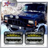 지프 트럭을%s 정연한 4*6inch LED 헤드라이트, 무거운 알루미늄 바디 헤드라이트를 가진 DRL를 가진 45W LED 헤드라이트