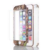 3 в 1 крышки настольного ПК ВОДЫ ПЕРЕДАЧА защитный чехол для мобильного телефона iPhone 6 случае 360 с отделкой из закаленного стекла