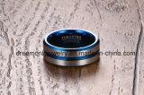 IP 파란 도금 8mm 텅스텐 탄화물 반지