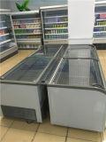 Congeladores comerciais curvados da caixa do indicador do gelado da porta de vidro