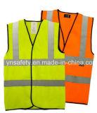 Maglia riflettente del Workwear di sicurezza della maglia con il grippaggio del nero e quattro nastri adesivi riflettenti