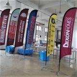 Penas de poliéster Pavilhão de Exposições de Publicidade de uso promocional caso Piscina arvorando pavilhão de Praia Suporte Banner, em forma de gota Pavilhão