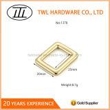 Curvatura do anel de ouro da liga do zinco do metal do retângulo