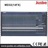 専門の健全なミキサー32チャネルは可聴周波DJのミキサーを鳴る