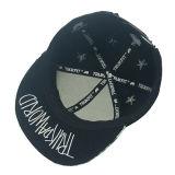 Chapéu liso do Snapback do tampão da borda do Twill colorido do algodão de 6 painéis