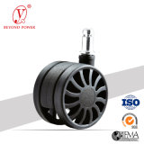 60mm PA / Nyloon Chaise de bureau Wheel Castor Windmill Roulettes Furniture Roulette Roulette White Chair Caster
