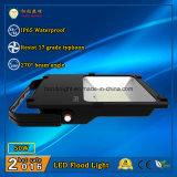 110lm/W와 270 도 광속 각에 옥외 점화 3 년 보장 LED 플러드 50W IP65