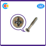 DIN/ANSI/BS/JIS Carbon-Steel/Stainless-Steel 4.8/8.8/10.9 fenda cruzada galvanizado o Parafuso Autoatarraxante