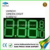 """24 do """" sinais do cambiador do preço de gás diodo emissor de luz (NL-TT61SF-3R-4D-GREEN)"""
