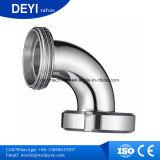 Coude du conduit de filetage mâle hygiénique d'acier inoxydable (DY-E05)