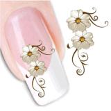 Стикер ногтя переноса воды картины цветка украшения DIY временно