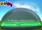 Grande cupola gonfiabile viola di campeggio trasparente del partito della tenda gonfiabile della bolla LED