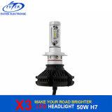 フィリップスLEDチップが付いているFanless 50W 6000lm X3 H7 LEDの自動ヘッドライト