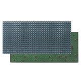 Одиночный голубой напольный P10 экран модуля индикации афиши текста СИД