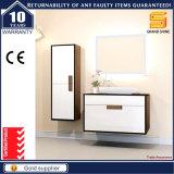 Cabina de cuarto de baño montada en la pared de madera de las mercancías sanitarias con el lavabo de colada
