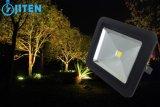 새로운 디자인 강화 유리 IP65 LED 투광 조명등을%s 가진 호리호리한 LED 플러드 빛