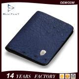 Бумажник владельца карточки роскошной неподдельной мягкой кожи страуса зерна Bifold