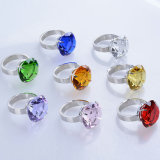 80mm de Grote Kleurrijke Servetring van de Diamant van het Kristal voor Herinnering