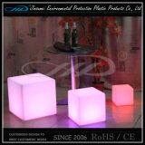 Ottoman en plastique LED Cube avec télécommande