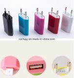 Chargeur UE/USA de mur du téléphone mobile USB de chargeur de course de fiche de chargeur coloré d'USB