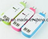 Cuatro cargadores multifunción de puerto USB con cable
