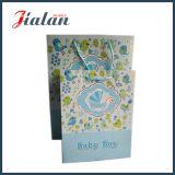 Sacs en papier de estampage chauds estampés bon marché faits sur commande de ventes en gros de carte argentée