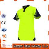 T-shirt van de Veiligheid van het Zicht van de Fabriek van China de Hoge van het Katoen van 100%