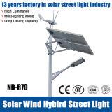 La Chine Fabricant éolienne et solaire Rue lumière LED hybride