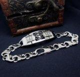 Garniture intérieure en acier titanique de Zircon de bijou de bracelets d'hommes de crâne de type de roche