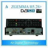 2017 новый тюнер Zgemma H5.2s гибрида 3 характеристик DVB-S2+DVB-S2/S2X/T2/C плюс Hevc/H. Sat 265/приемник кабеля