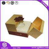 Contenitore quadrato di lusso di collana dell'anello dei monili del magnete dell'oro