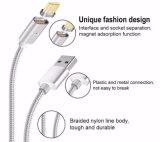 Ios와 인조 인간 전화를 위한 나일론 재킷을%s 가진 1개의 자석 USB 비용을 부과 케이블에 대하여 2