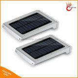 Sensor de movimento exterior 25levou Jardim Luz movidos a energia solar para montagem na parede