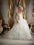 Платье венчания планки спагеттиа платья шикарного шнурка 2016 Bridal