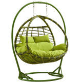 2017 New Double Swing Swing, Móveis de Rattan Mobiliário de Jardim (D156)