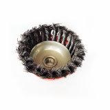 ねじれの結び目の鋼線の車輪のブラシ