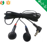 3.5mm Stereo Cheap Disposable Earphone for Airline
