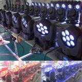 lumière principale mobile de faisceau du matériel DEL de disco de l'étape 7X10W