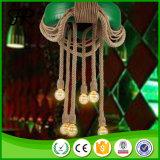 Pneu de la mode moderne corde de chanvre industriel d'éclairage de la poignée de commande