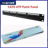 CAT6 Panel de conexiones UTP con 24 pines