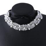 方法弓真珠のラインストーンのダイヤモンドカラーチョークバルブのネックレスの宝石類