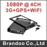 4G de vehículo de GPS DVR con 1080P de almacenamiento de la tarjeta SD para la policía coche Taxi Autobús