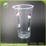 tazze di plastica a gettare del frappè 500ml/16oz con i coperchi e le paglie