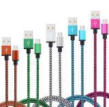 다채로운 모든 마이크로 운반 비용을 부과를 위한 나일론에 의하여 길쌈되는 USB 데이터 충전기 Caable