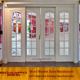 De ronde Hoogste Houten Glijdende Voordeur van het Glas (GSP3-033)