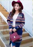 Последние моды полосатый Пуловер из женщин Вязаная кофта