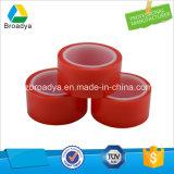 Bande dégrossie adhésive acrylique d'animal familier de film rouge d'animal familier double pour l'industrie de meubles (BY6982LG)